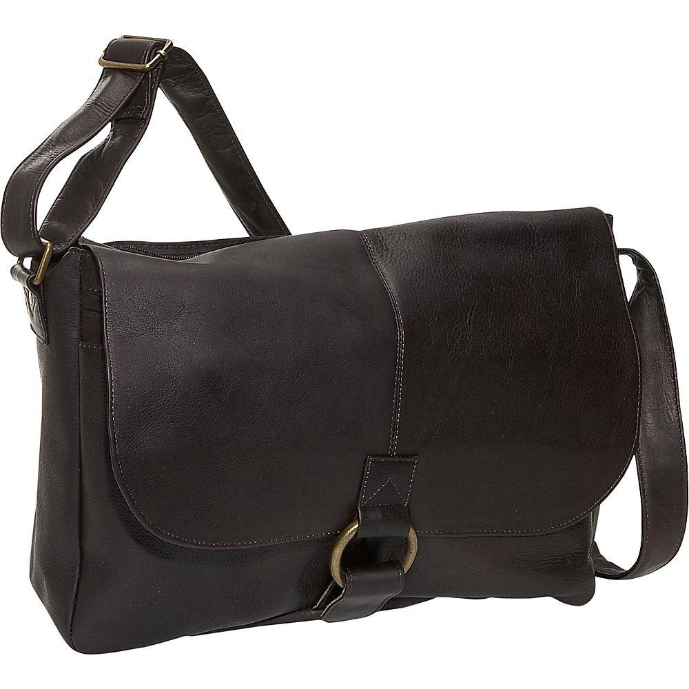 David King & Co. East/West 1/2 Flap Messenger - Cafe - Work Bags & Briefcases, Messenger Bags