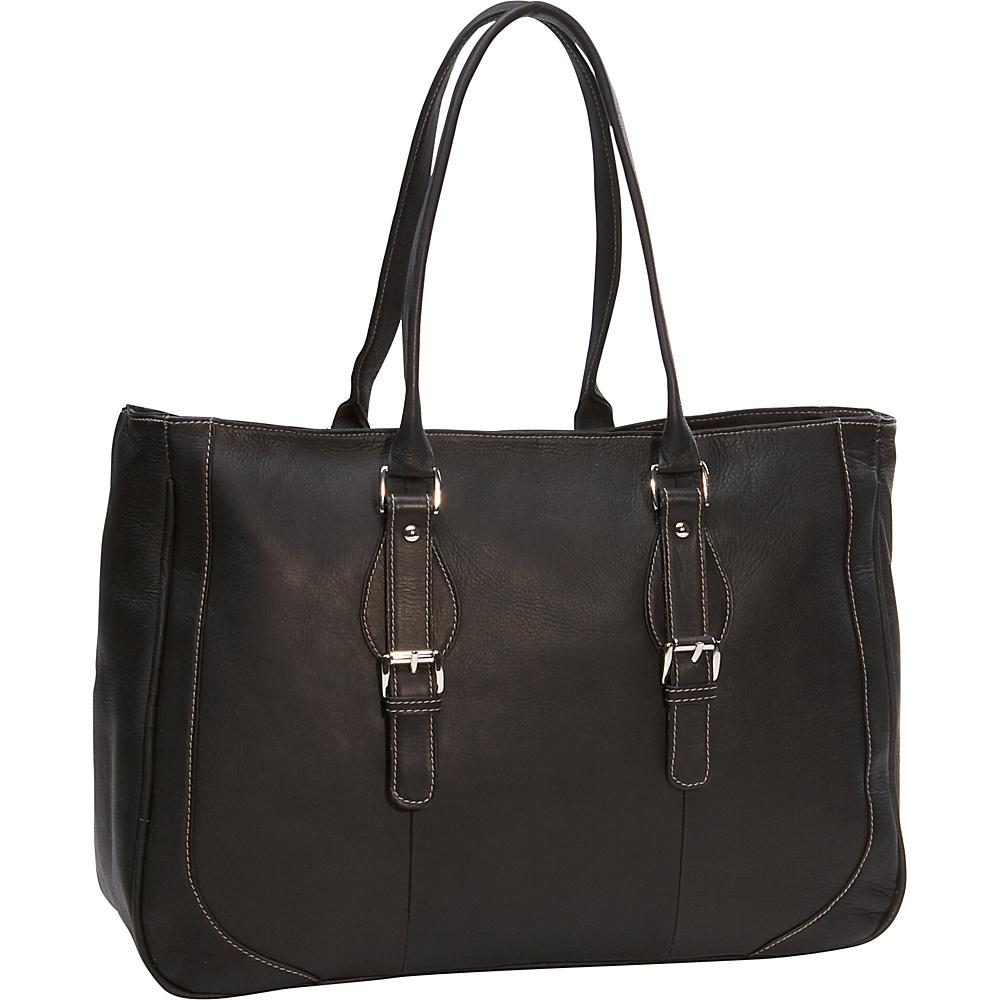 Piel Ladies Laptop Tote Bag - Black - Work Bags & Briefcases, Women's Business Bags