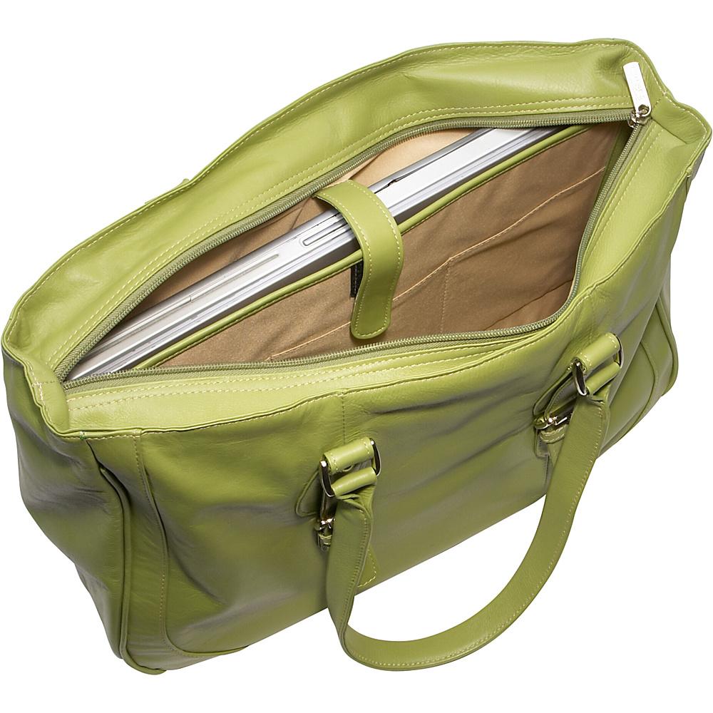 Piel Ladies Laptop Tote Bag - Chocolate