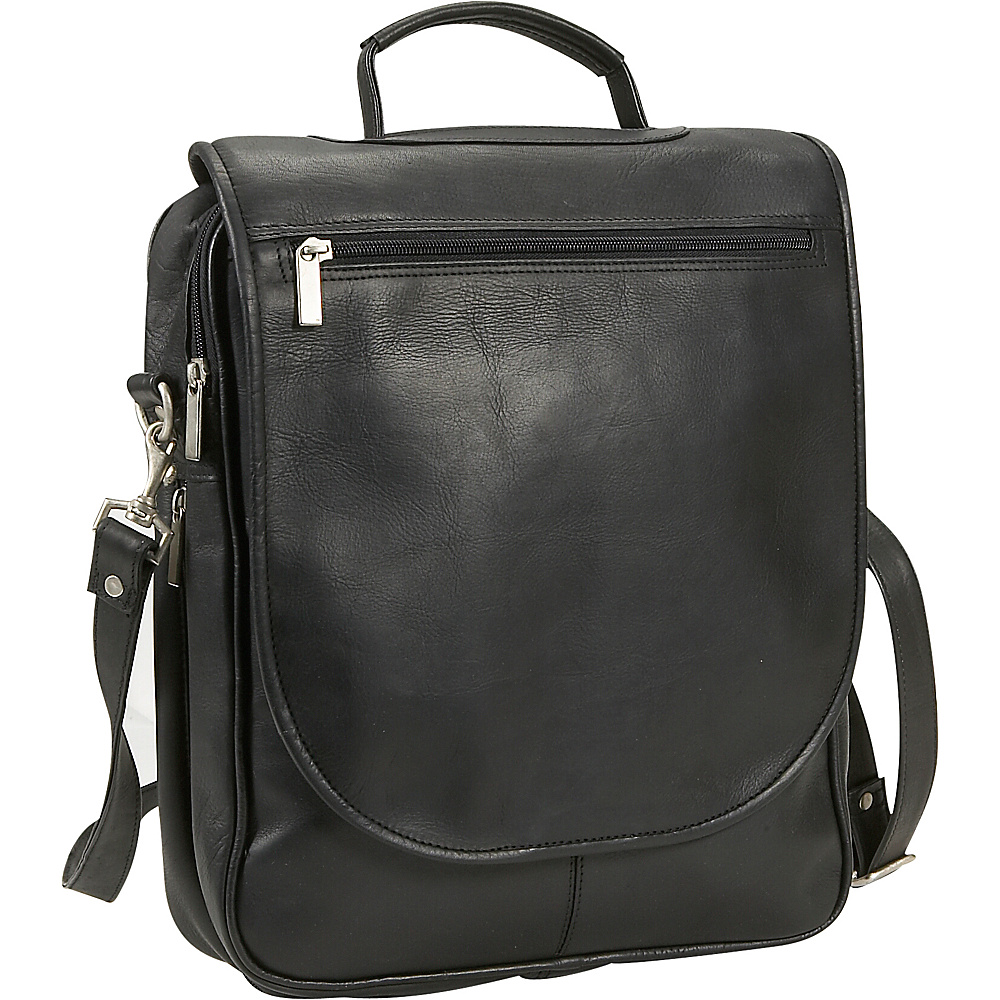 David King & Co. Expandable Vertical Portfolio - Black - Work Bags & Briefcases, Non-Wheeled Business Cases
