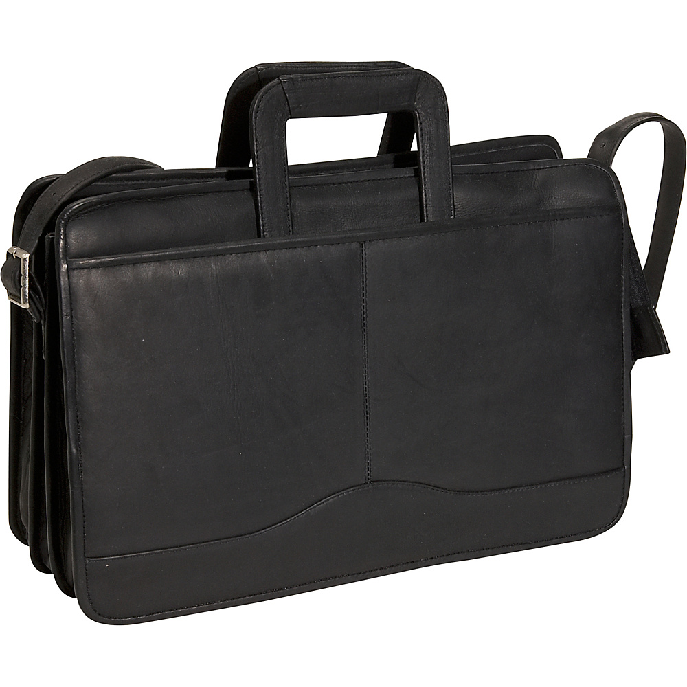 David King & Co. Triple Gusset Drop Handle Brief Black - David King & Co. Non-Wheeled Business Cases - Work Bags & Briefcases, Non-Wheeled Business Cases