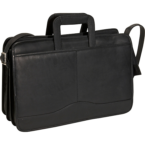 David King & Co. Triple Gusset Drop Handle Brief Black - David King & Co. Non-Wheeled Business Cases