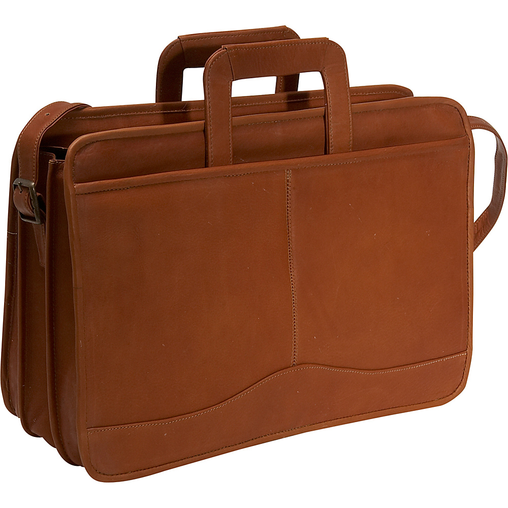 David King & Co. Triple Gusset Drop Handle Brief - Tan - Work Bags & Briefcases, Non-Wheeled Business Cases