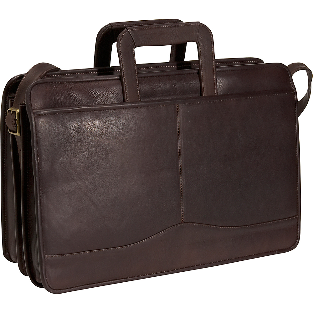 David King & Co. Triple Gusset Drop Handle Brief - Cafe - Work Bags & Briefcases, Non-Wheeled Business Cases
