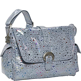 Soap Bubbles Laminated Diaper Bag Blue