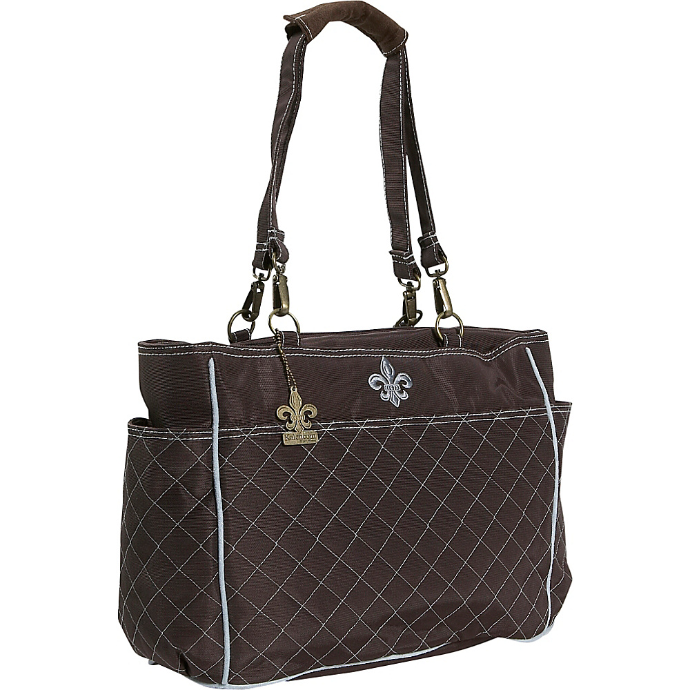 Kalencom NOrleans Tote - Chocolate/Blue - Handbags, Diaper Bags & Accessories