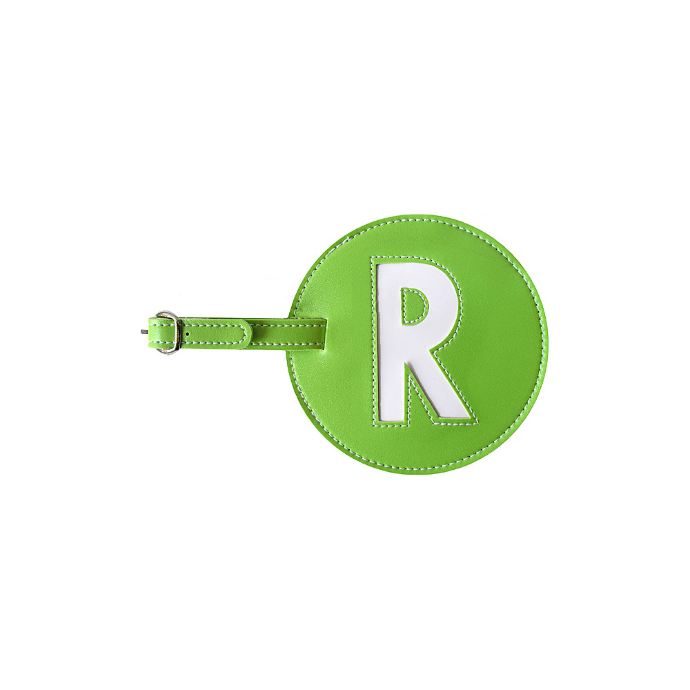 pb travel Initial R Luggage Tag Set of 2 Green pb travel Luggage Accessories