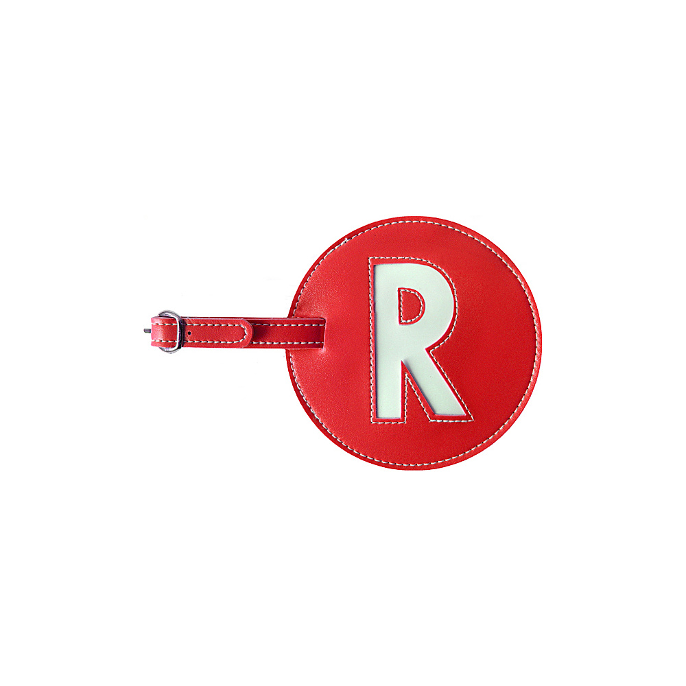 pb travel Initial R Luggage Tag Set of 2 Red pb travel Luggage Accessories
