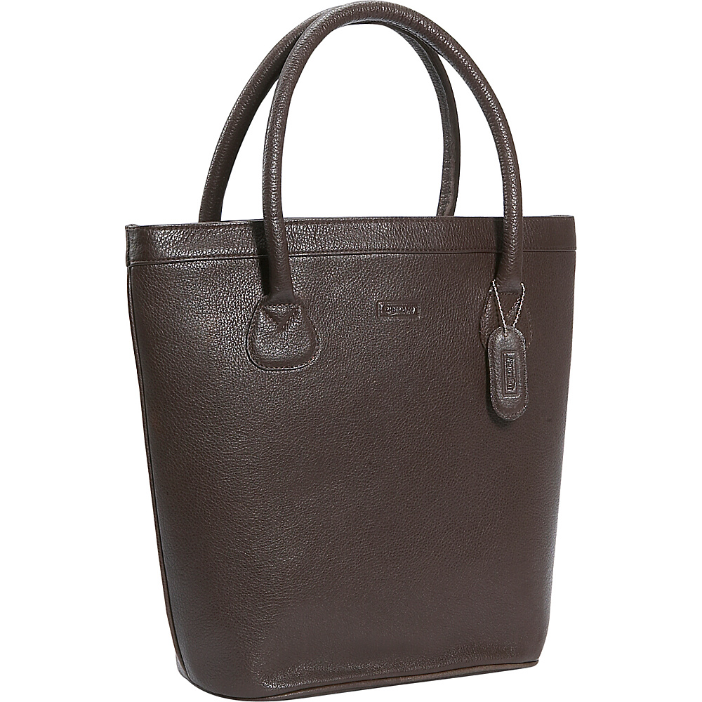 Leatherbay Oxford Leather Tote Dark Brown - Leatherbay Ladies' Business