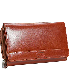 Women's Elegant Shopping Wallet Cognac