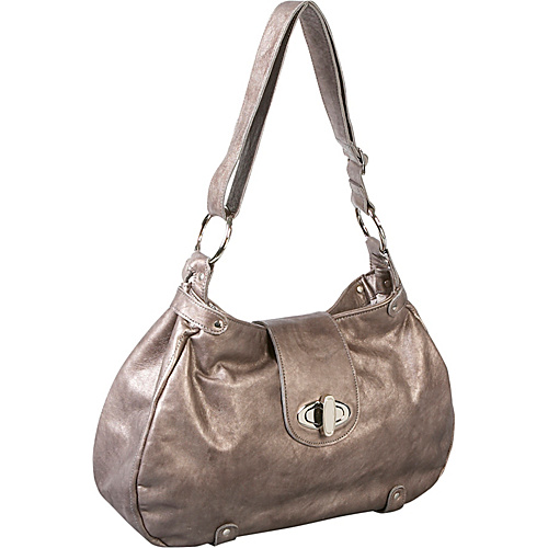 Brynn Capella Allison Leather Hobo - Pewter