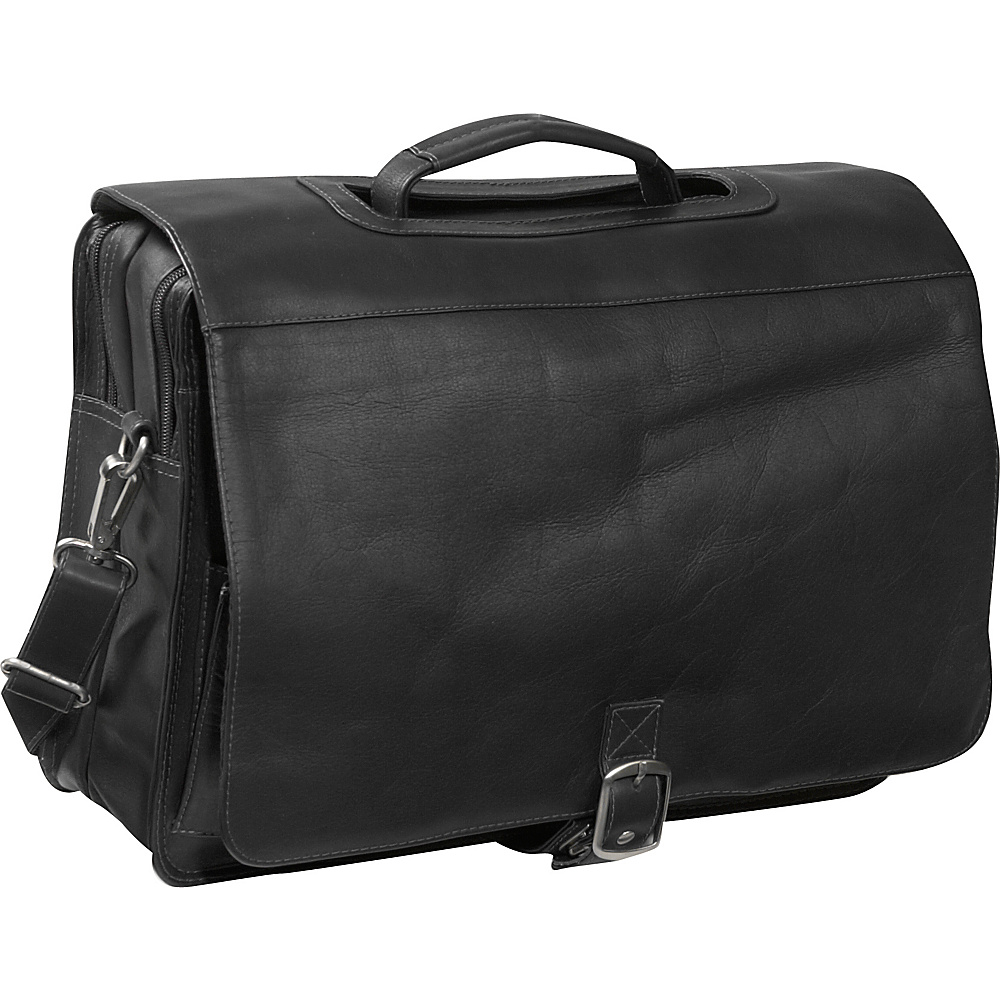 Piel Flap/Handle Portfolio - Black - Work Bags & Briefcases, Non-Wheeled Business Cases
