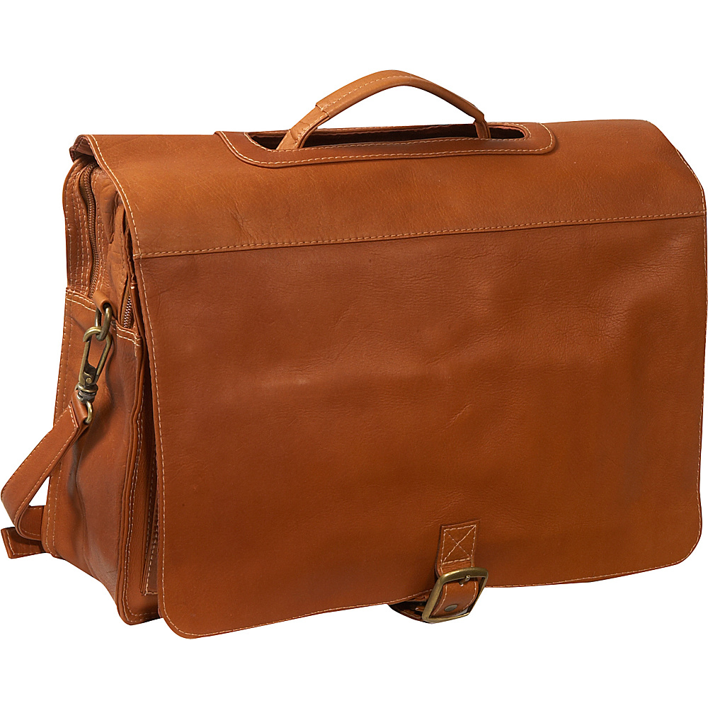 Piel Flap/Handle Portfolio - Saddle - Work Bags & Briefcases, Non-Wheeled Business Cases