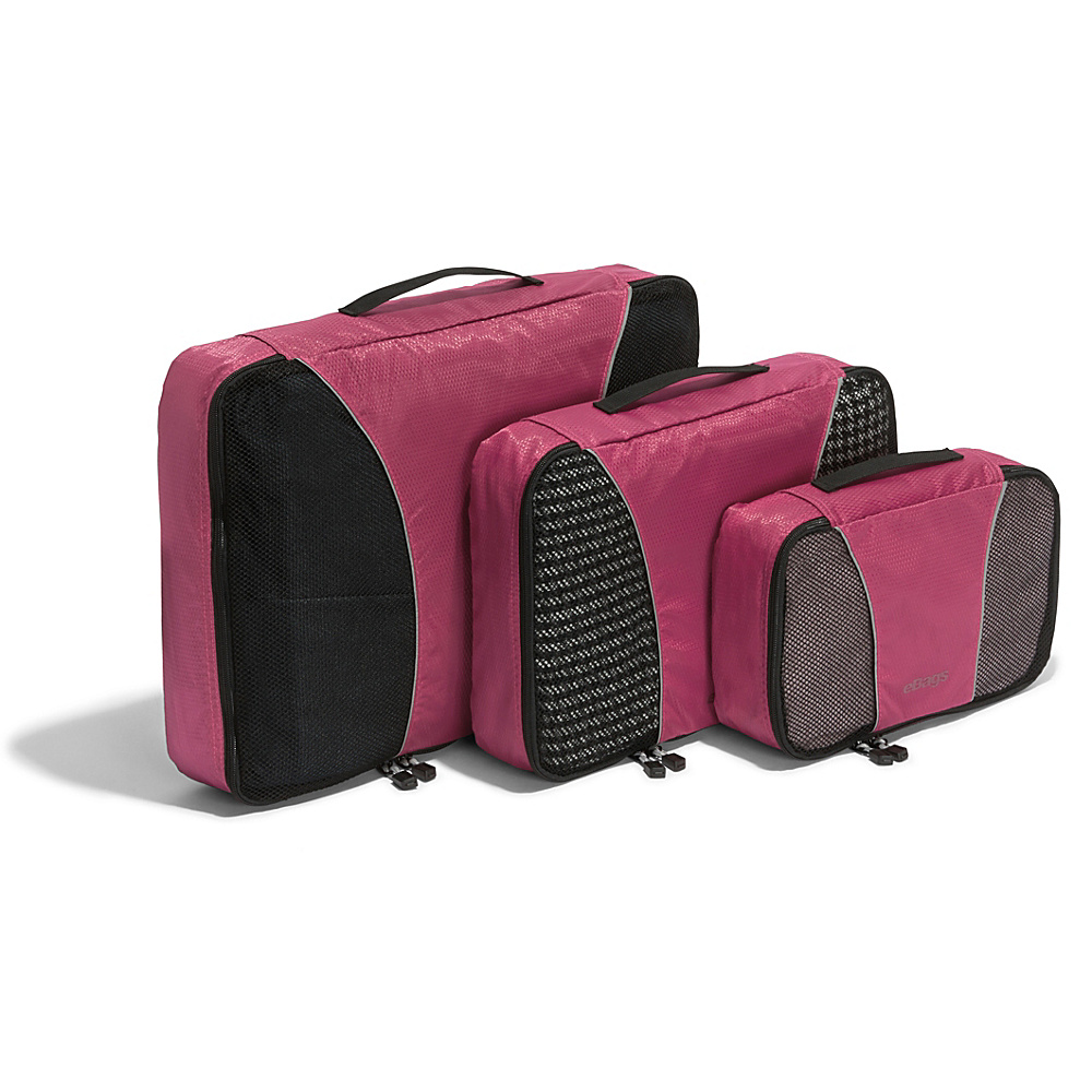 eBags Packing Cubes - 3pc Set - Peony - Travel Accessories, Travel Organizers