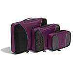 eBags Packing Cubes - 3pc Set - Eggplant