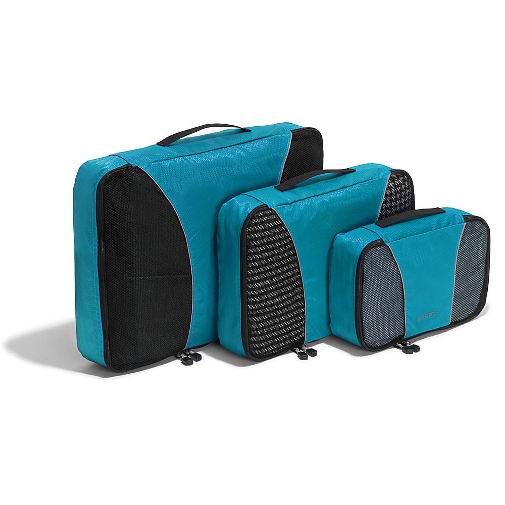 eBags Packing Cubes - 3pc Set - Aquamarine - Travel Accessories, Travel Organizers