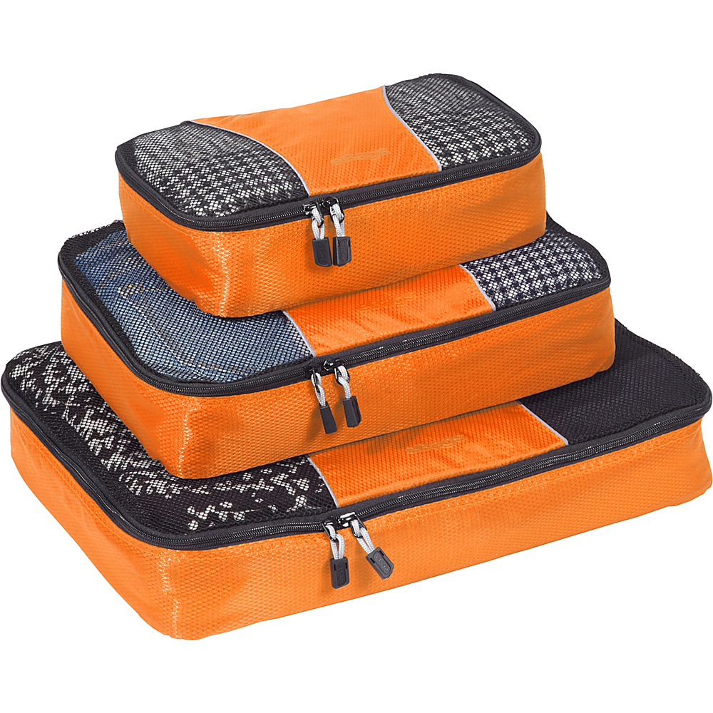 eBags Packing Cubes - 3pc Set - Tangerine - Travel Accessories, Travel Organizers