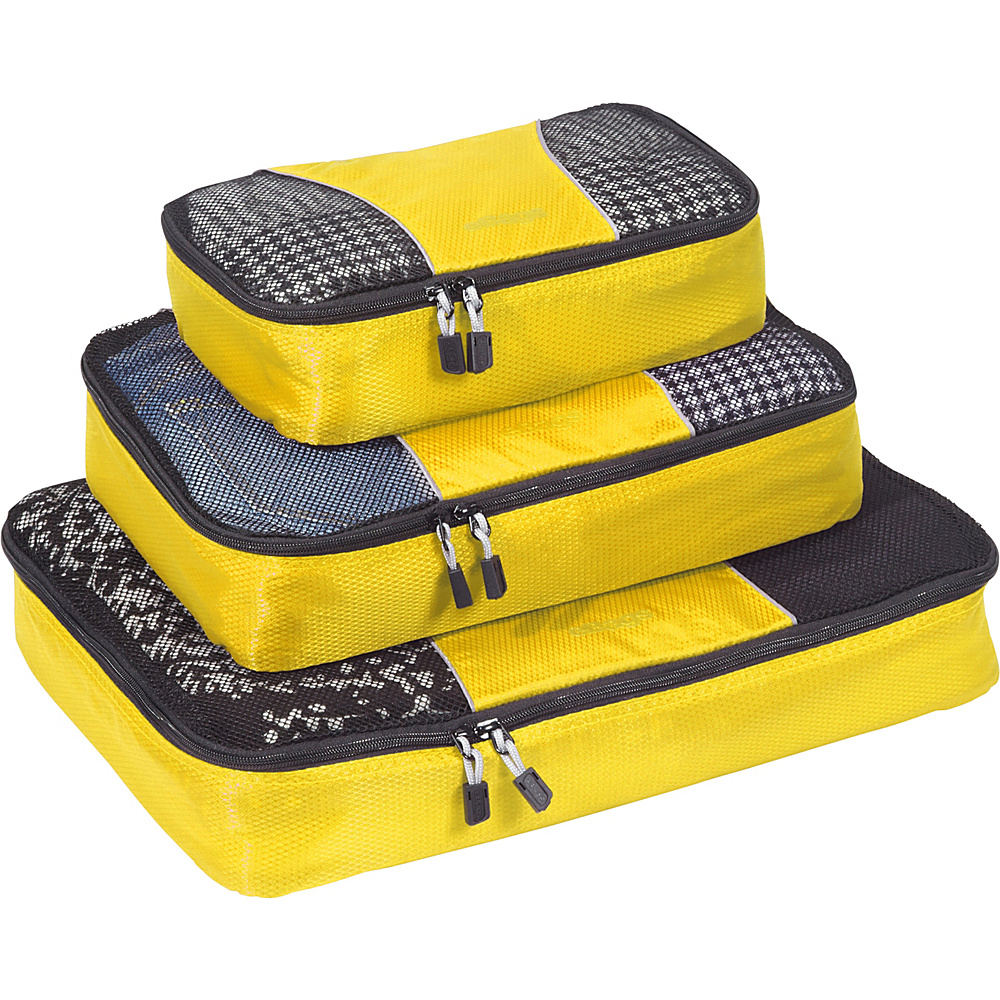eBags Packing Cubes - 3pc Set - Canary - Travel Accessories, Travel Organizers