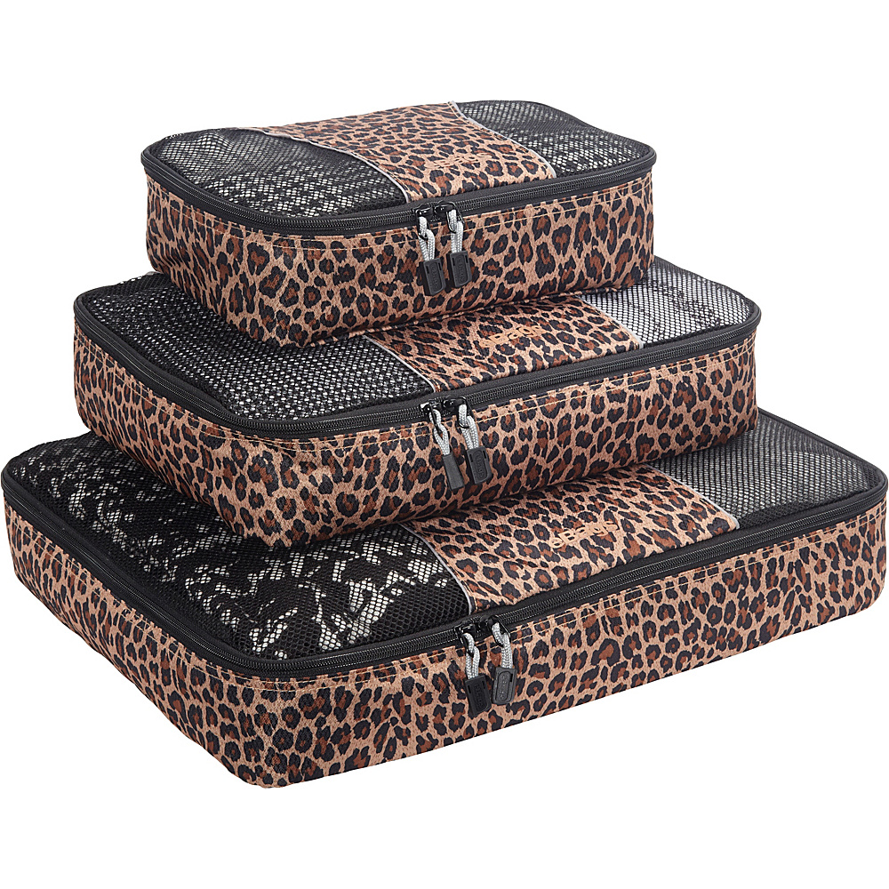 eBags Packing Cubes - 3pc Set Leopard - eBags Travel Organizers - Travel Accessories, Travel Organizers