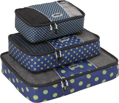eBags Packing Cubes - 3pc Set Navy Dots Anyone? - eBags Packing Aids