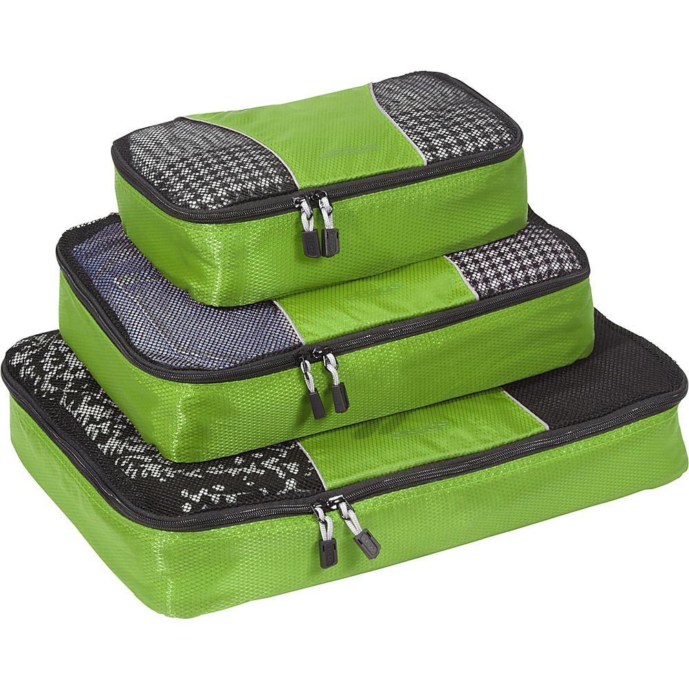 eBags Packing Cubes - 3pc Set - Grasshopper - Travel Accessories, Travel Organizers