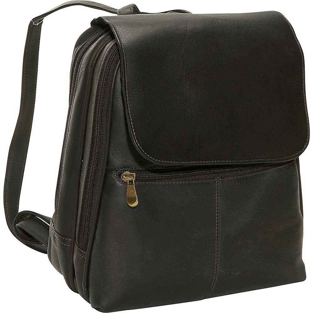 David King & Co. Women's Organizer Backpack Cafe - David King & Co. Leather Handbags