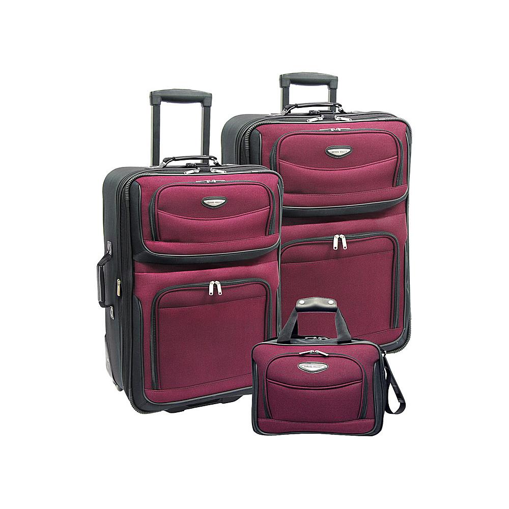 Traveler's Choice Amsterdam 3-Piece Travel Collection Burgundy - Traveler's Choice Luggage Sets