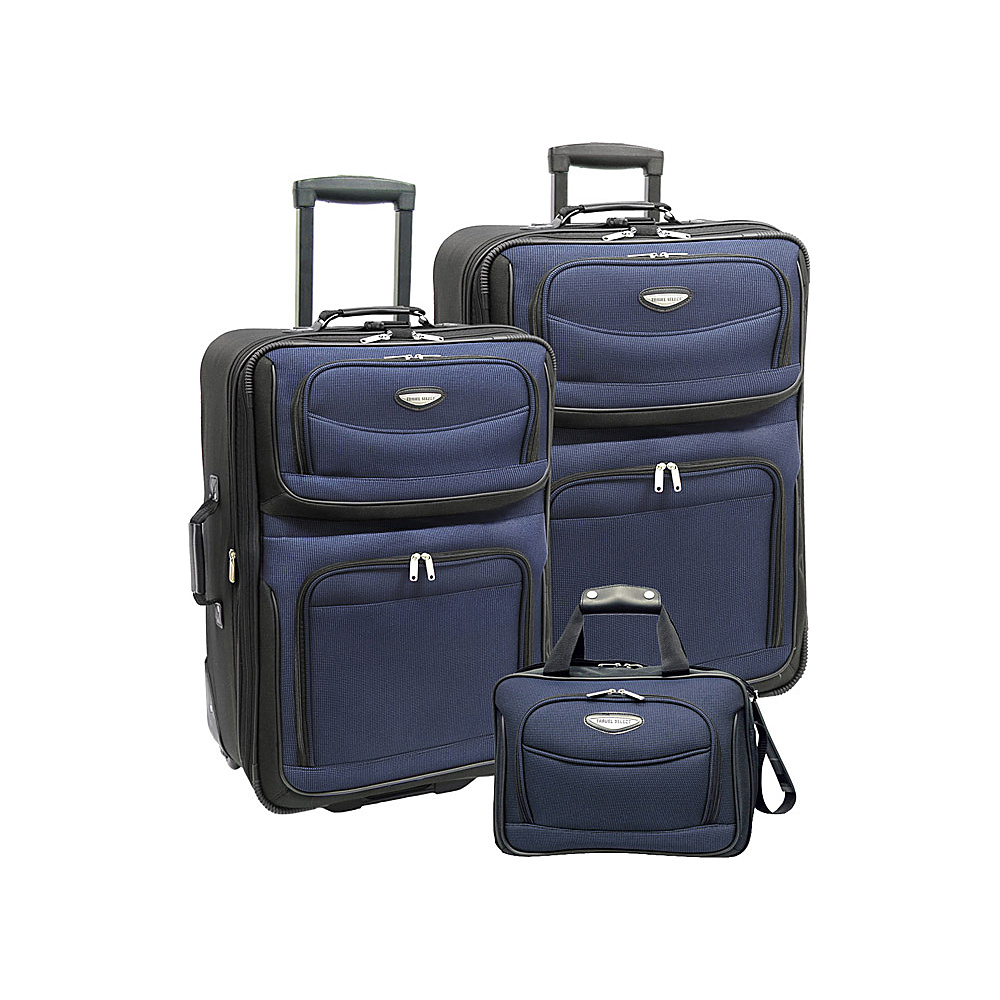 Travelers Choice Amsterdam 3-Piece Travel Collection Navy - Travelers Choice Luggage Sets - Luggage, Luggage Sets