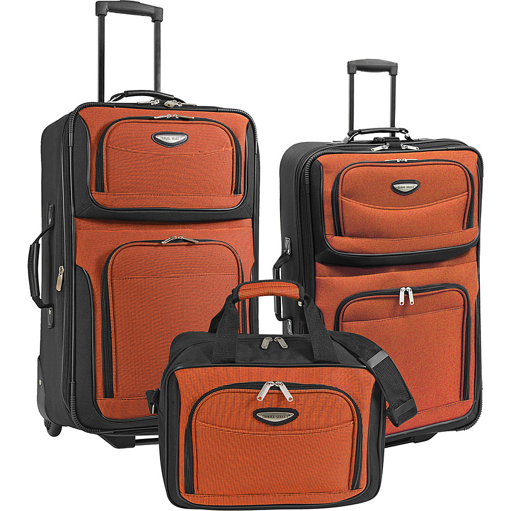 Traveler s Choice Amsterdam 3 Piece Travel Collection Orange Traveler s Choice Luggage Sets