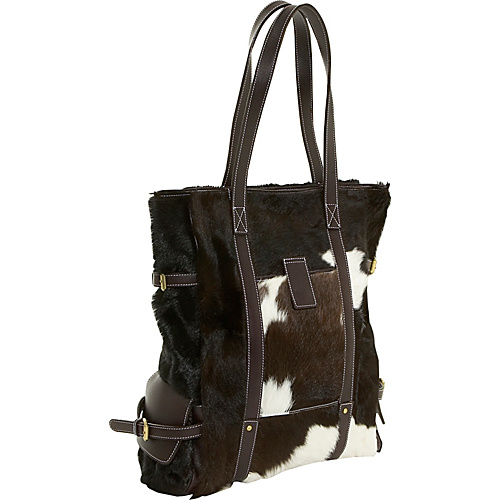 Wabags Landon Fur Tote - Brown Multi