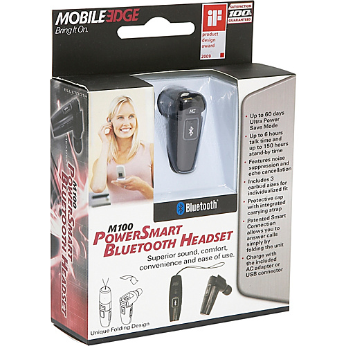 Mobile Edge Bluetooth PowerSmart Headset w/ Power Save