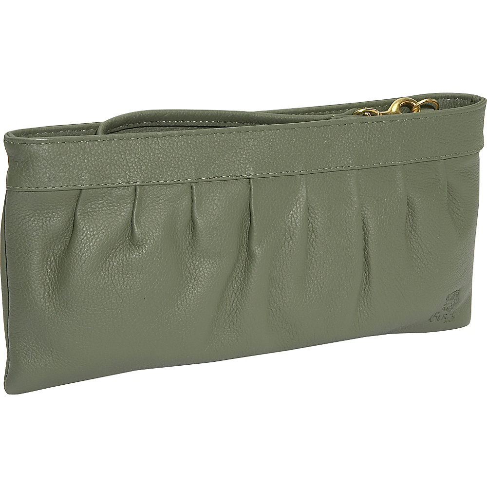 J. P. Ourse & Cie. West Chester Clutch Wristlet - Sage - Handbags, Leather Handbags