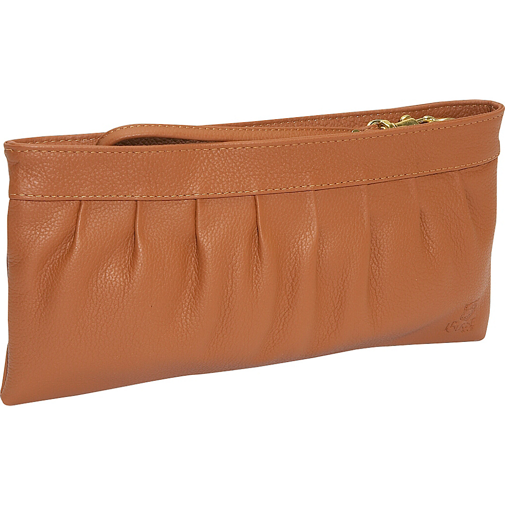 J. P. Ourse & Cie. West Chester Clutch Wristlet - Tan - Handbags, Leather Handbags