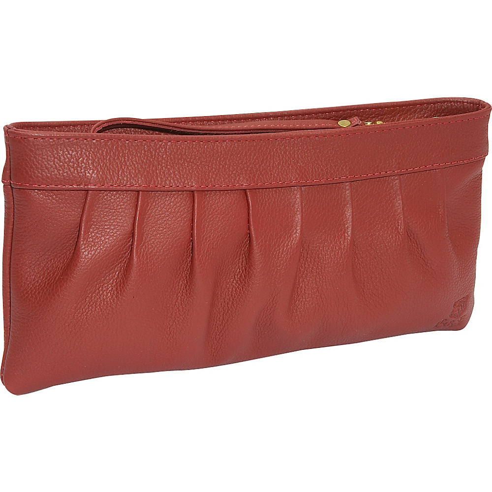 J. P. Ourse & Cie. West Chester Clutch Wristlet - Berry - Handbags, Leather Handbags