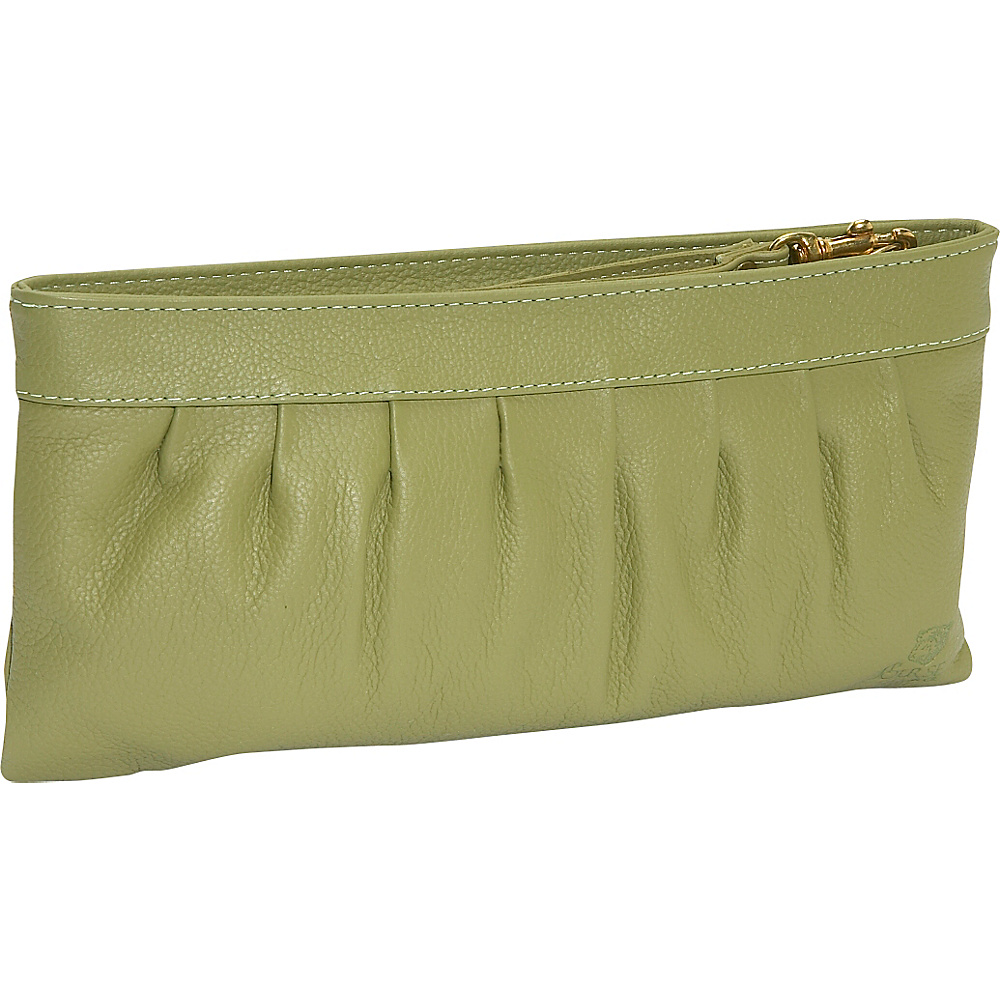 J. P. Ourse & Cie. West Chester Clutch Wristlet - Kiwi - Handbags, Leather Handbags