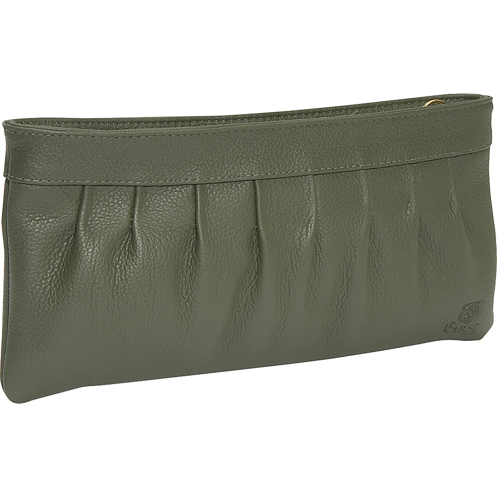 J. P. Ourse & Cie. West Chester Clutch Wristlet - Olive - Handbags, Leather Handbags