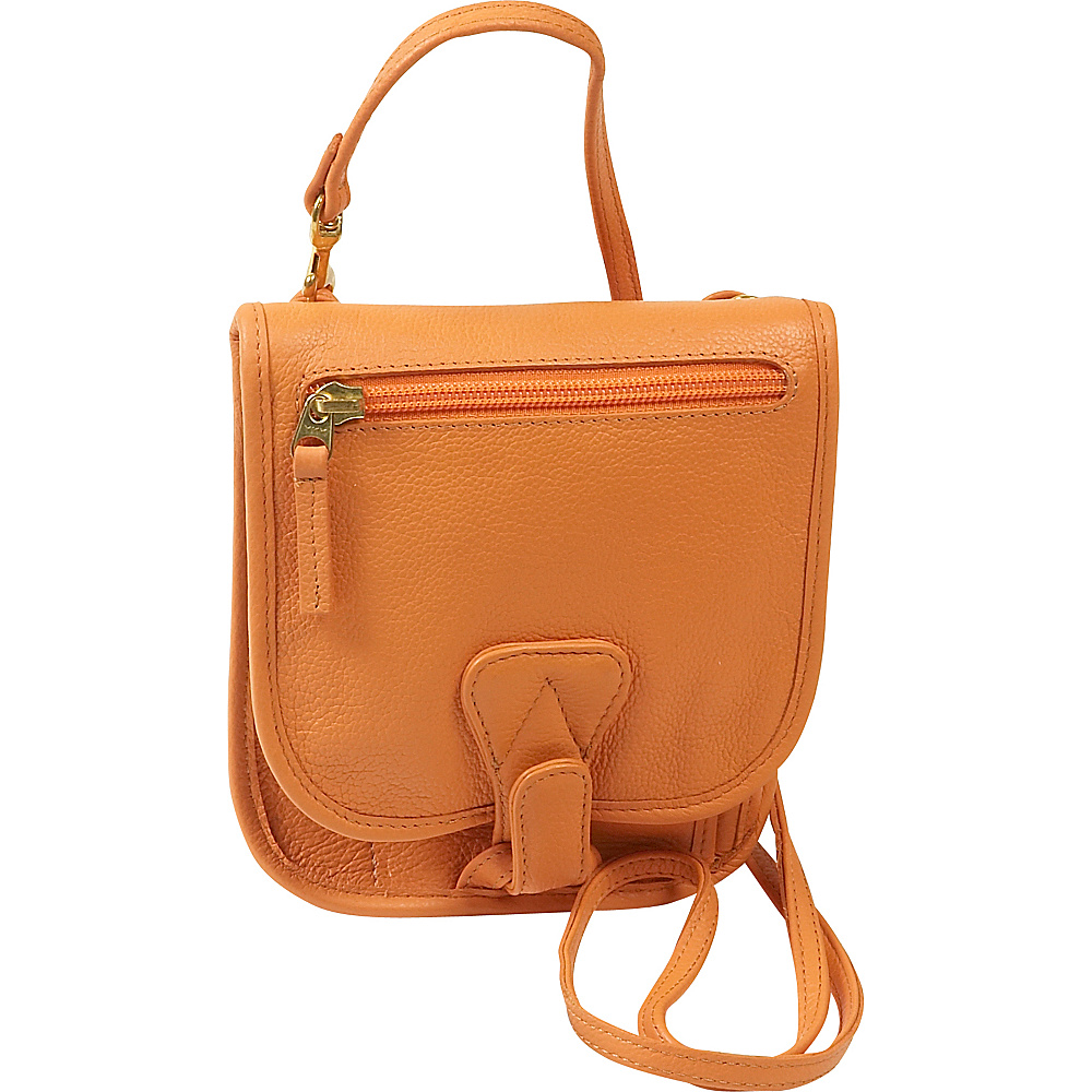 J. P. Ourse & Cie. Compact Companion - Tangerine - Handbags, Leather Handbags