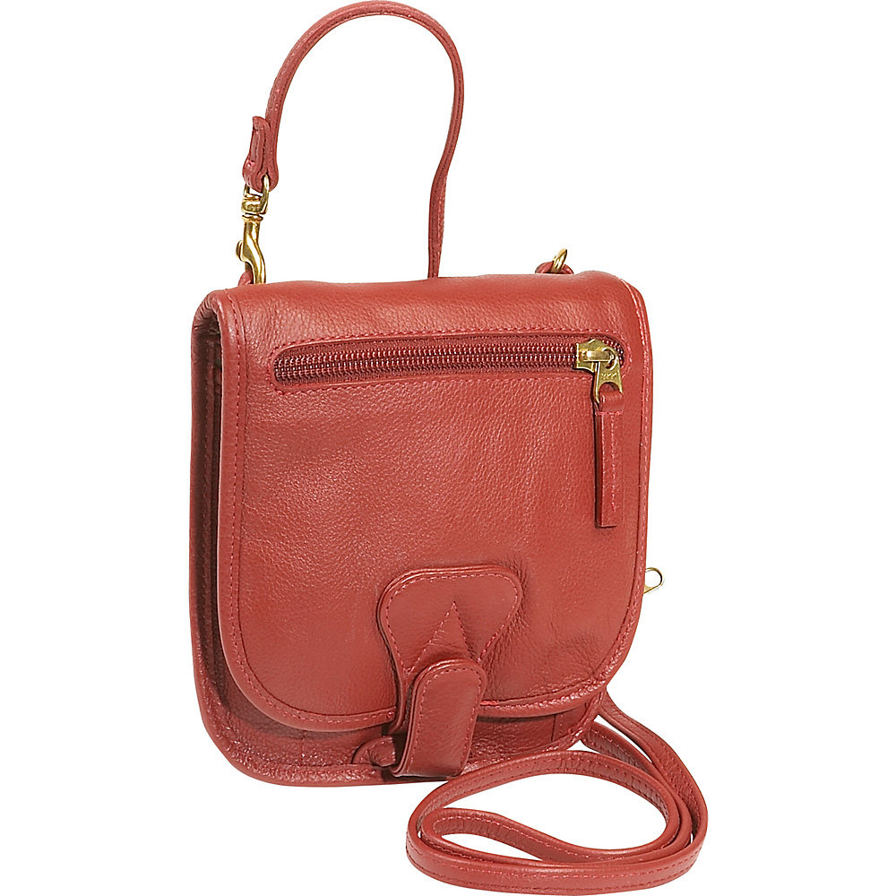 J. P. Ourse & Cie. Compact Companion - Berry Red - Handbags, Leather Handbags