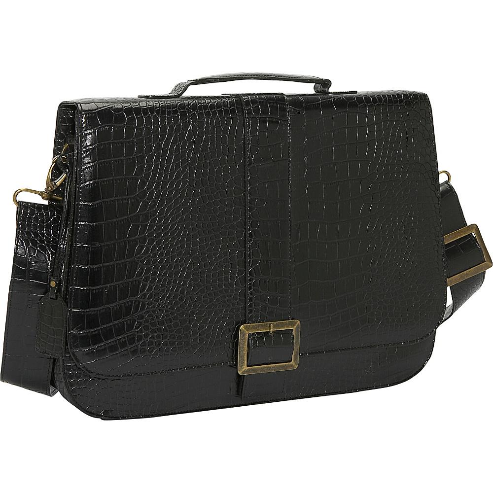 Soapbox Bags Jesse Black Croc