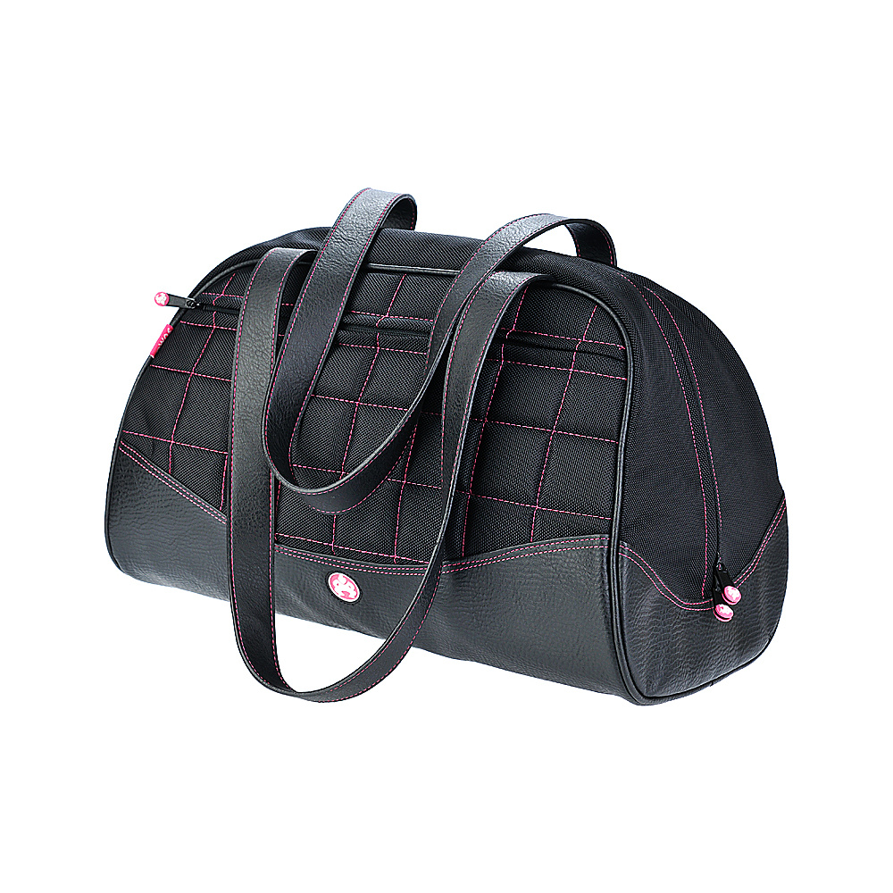 Sumo Women s Duffel Medium Black Pink Stitch