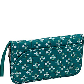Tango Travel Wallet Aqua Teal - Orchard Print