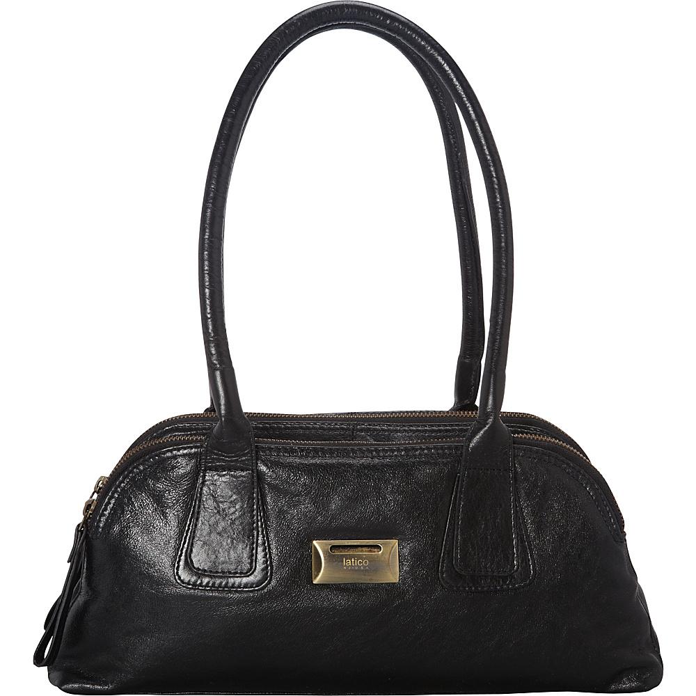 Latico Leathers Louise Shoulder Bag Black - Latico Leathers Leather Handbags - Handbags, Leather Handbags