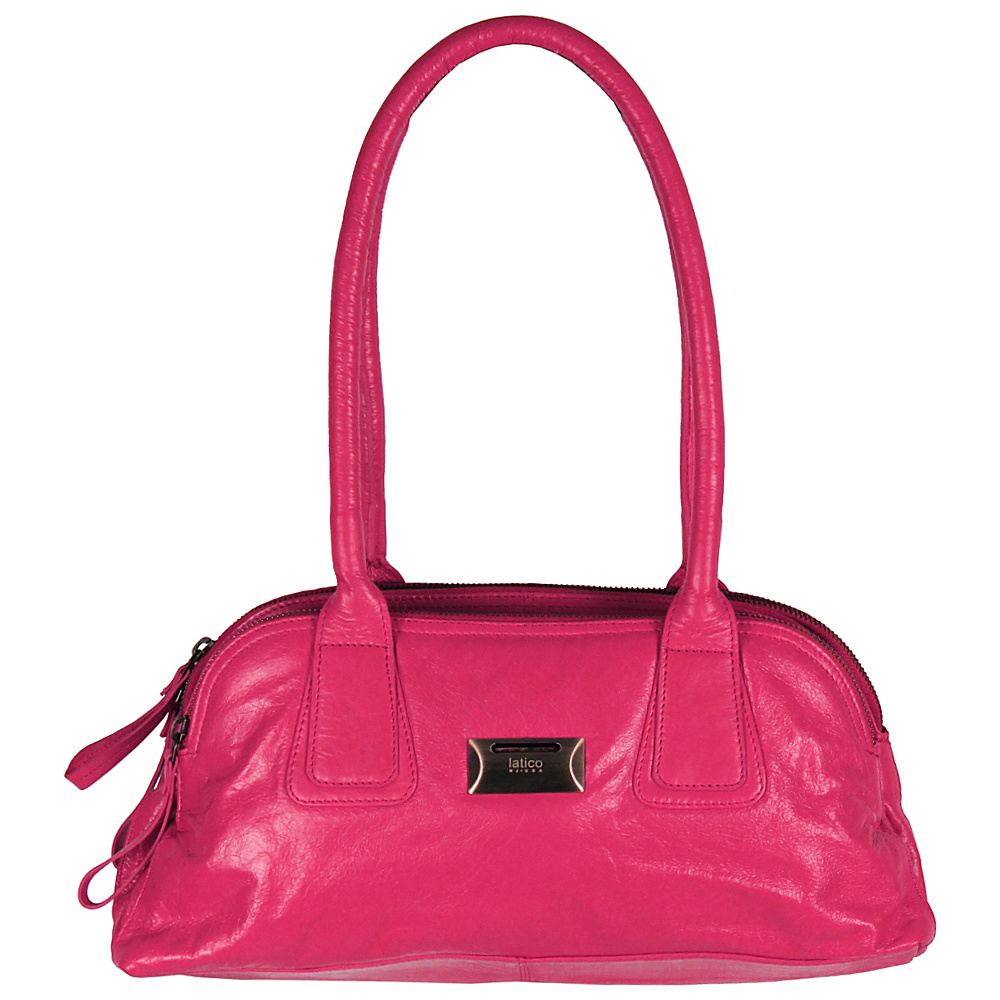 Latico Leathers Louise Shoulder Bag Fuchsia - Latico Leathers Leather Handbags - Handbags, Leather Handbags