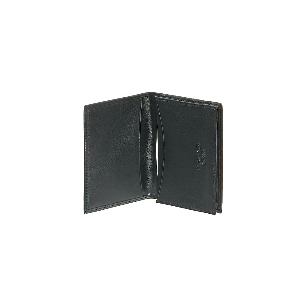 Bosca Nappa Vitello Small Wallet/Card Case - Black - Work Bags & Briefcases, Business Accessories