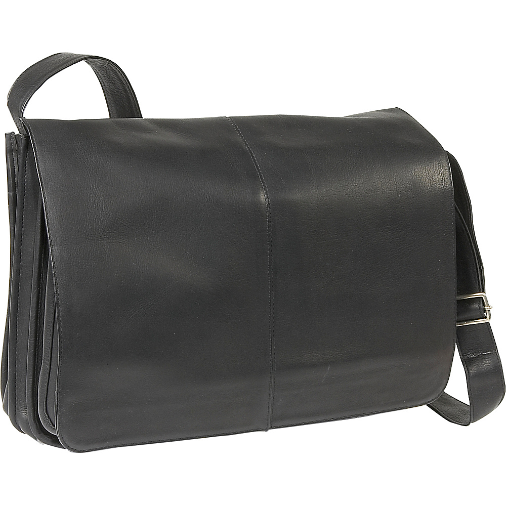 Le Donne Leather Quick Access Messenger - Black - Work Bags & Briefcases, Messenger Bags