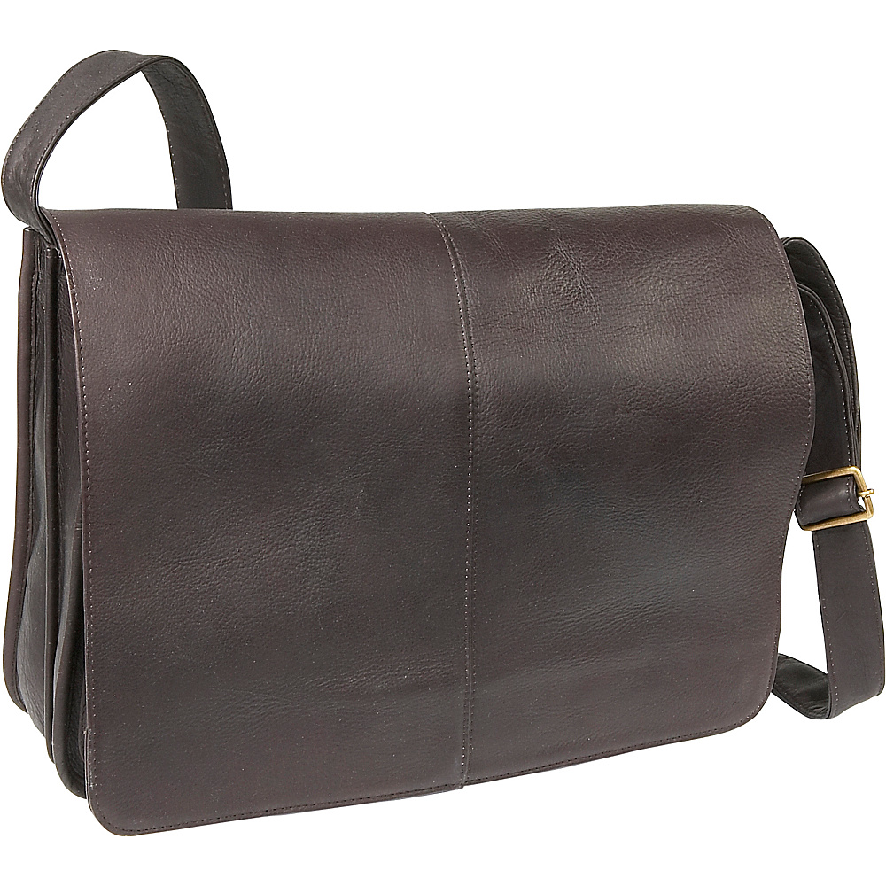 Le Donne Leather Quick Access Messenger - Caf - Work Bags & Briefcases, Messenger Bags
