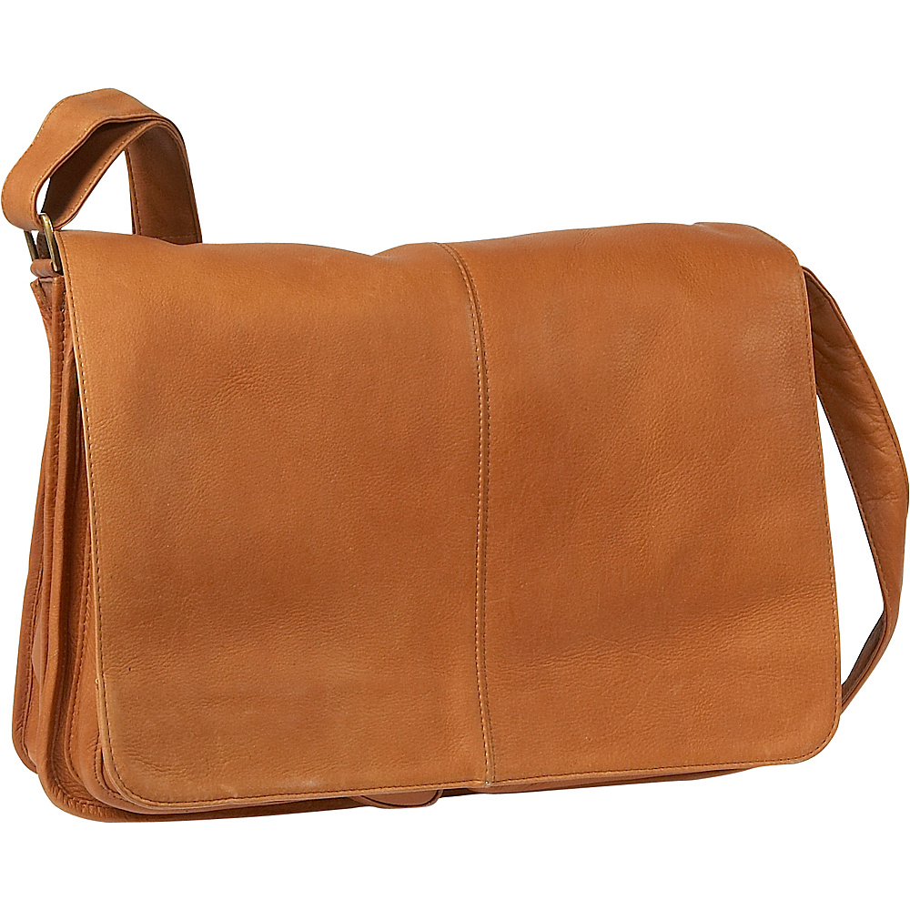 Le Donne Leather Quick Access Messenger - Tan - Work Bags & Briefcases, Messenger Bags