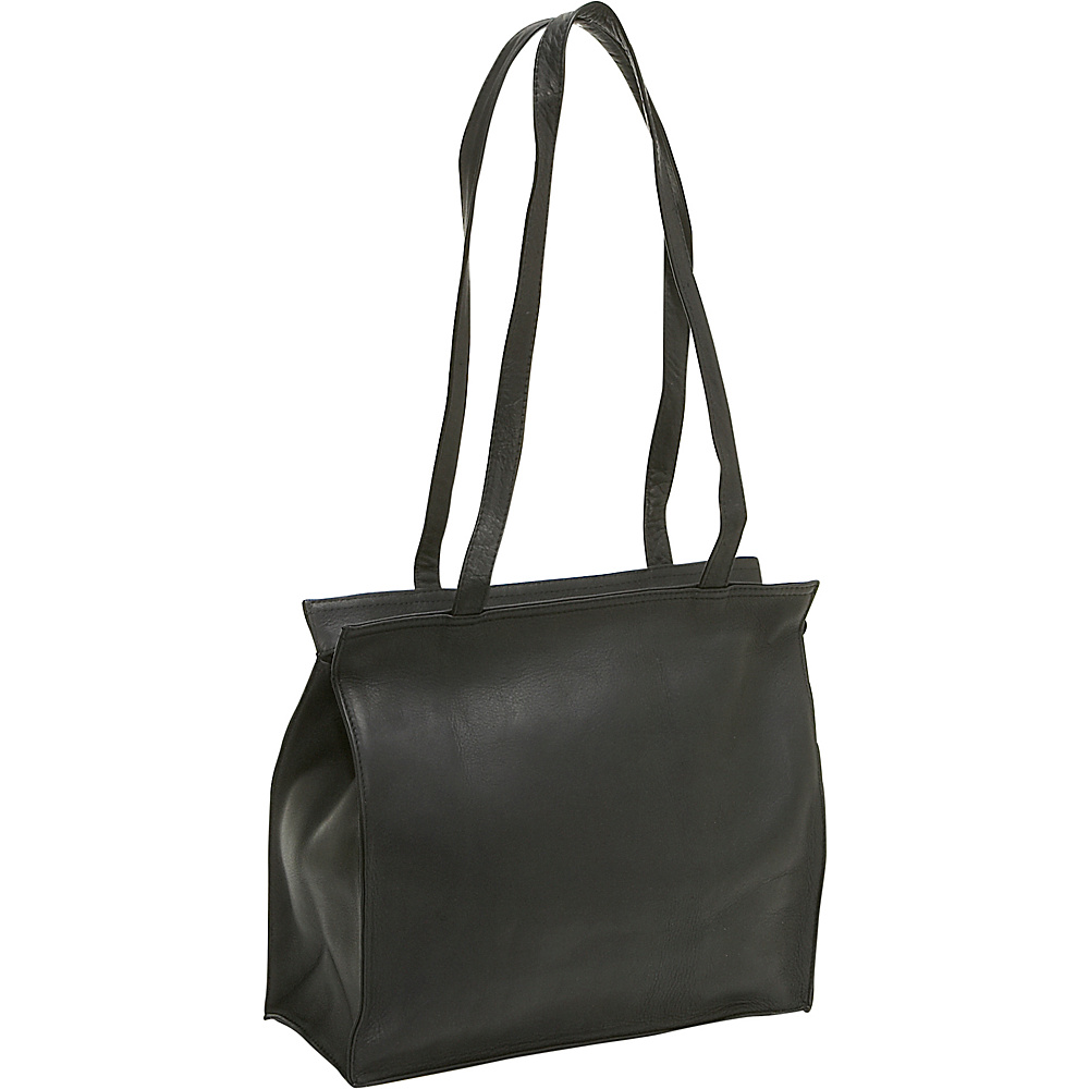 Le Donne Leather Simple Tote - Black - Handbags, Leather Handbags