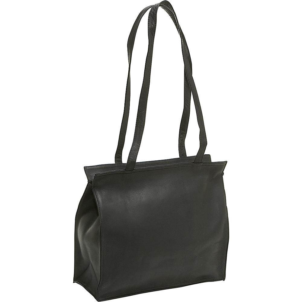Le Donne Leather Simple Tote - Black - Handbags, Leather Handbags