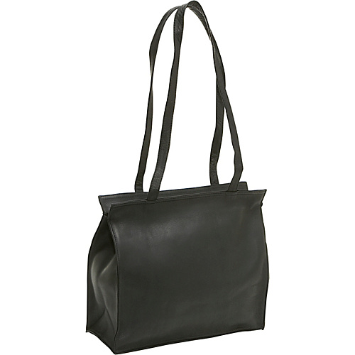 Le Donne Leather Simple Tote - Black